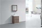 "Bliss  24"" Butternut Floor Mount  Modern Bathroom Vanity"