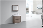"Bliss 30"" Butternut Floor Mount  Modern Bathroom Vanity"