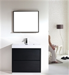 "Bliss 36"" Black Floor Mount  Modern Bathroom Vanity"
