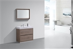 "Bliss 36"" Butternut Floor Mount  Modern Bathroom Vanity"