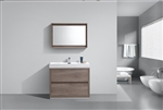 "Bliss 40"" Butternut Floor Mount  Modern Bathroom Vanity"