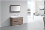 "Bliss 48"" Butternut Floor Mount Modern Bathroom Vanity"
