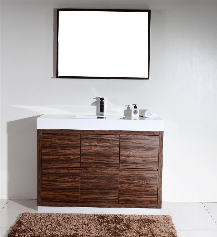 vanities modern rosewood white a bathroom sink wm acrylic with smile vanity eviva shop set main integrated