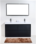 "Bliss 60"" Floor Moun Black Bathroom Vanity"