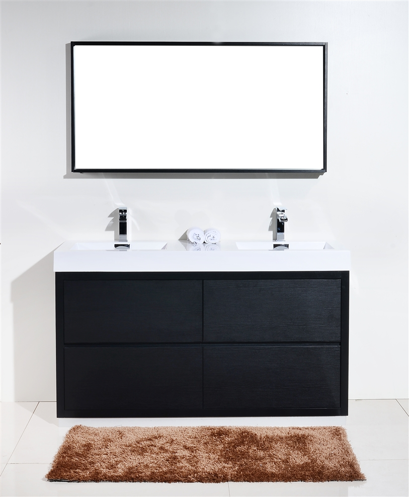 floor moun black bathroom vanity - bliss  floor moun black bathroom vanity