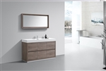 "Bliss 60"" Single Sink Floor Mount Gloss Butternut Bathroom Vanity"