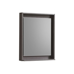 "Bliss 24"" Wide Mirror w/ Shelf - Gray Oak"