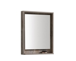 "24"" Wide Mirror w/ Shelf - Nature Wood"