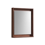 "24"" Wide Mirror w/ Shelf - Walnut"