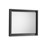 "Forest 30"" Wide Mirror w/ Shelf - Black"