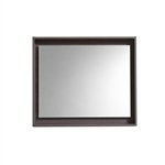 "30"" Wide Mirror w/ Shelf - High Gloss Gray Oak"