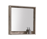 "30"" Wide Mirror w/ Shelf - Nature Wood"