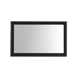 "36"" Wide Mirror w/ Shelf - Black"