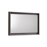 "Kube 36"" Wide Mirror w/ Shelf - Gray Oak"