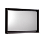 "36"" Wide Mirror w/ Shelf - High Gloss Gray Oak"