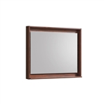 "36"" Wide Mirror w/ Shelf - Walnut"