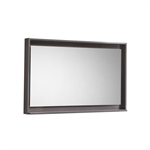 "40"" Wide Mirror w/ Shelf - Gray Oak"