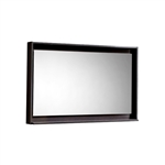 "40"" Wide Mirror w/ Shelf - High Gloss Gray Oak"