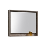 "40"" Wide Mirror w/ Shelf - Nature Wood"
