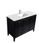 "Classic 48"" Black Vanity with Countertop"