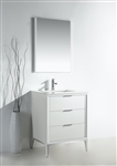 Divani  24'' High Gloss White Vanity