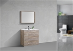 "Milano 36"" Nature Wood Floor Mount Modern Bathroom Vanity"