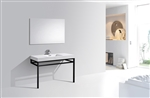 "Haus 48"" Stainless Steel Console w/ White Acrylic Sink - Matte Black"