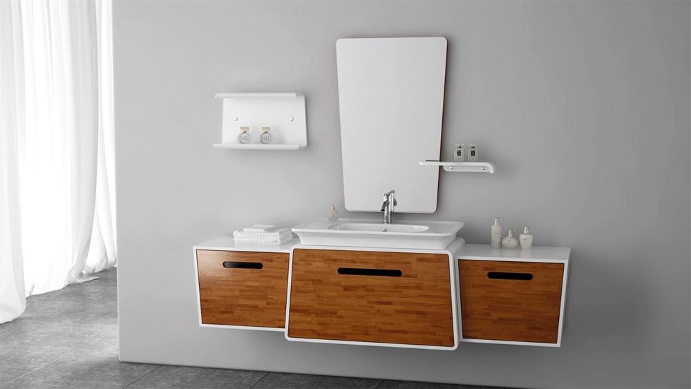 Modern Wall Mount Vanity.Kube Lego 70 5 Modern Wall Mount Bathroom Vanity Set High Gloss White And Honey Maple In Stock