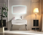 "Kube Riso 47.7"" Modern Bathroom Vanity - White"