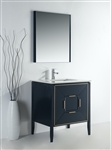 Vetro 30'' Gloss Blue Vanity W/ Quartz Counter Top