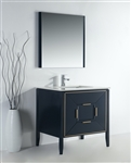 Vetro 36'' Gloss Blue Vanity W/ Quartz Counter Top