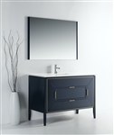 Vetro 48'' Gloss Blue Vanity W/ Quartz Counter Top