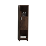 "Tona Levi 63"" Rosewood Linen Cabinet with 1 Door and 2 Cubby Holes"