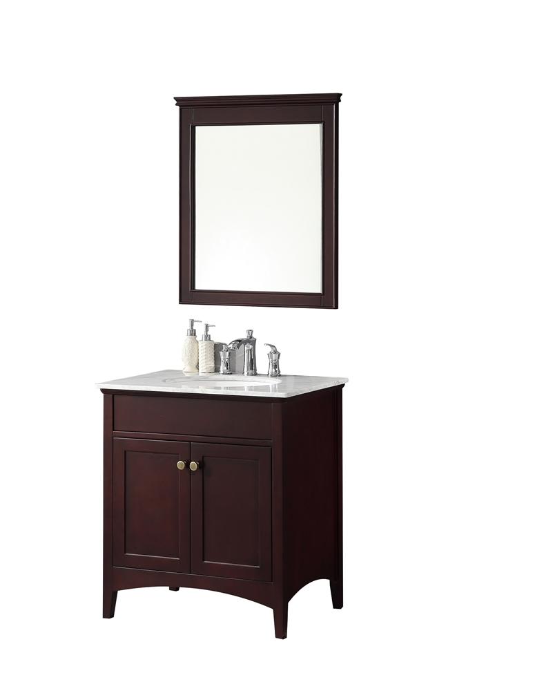 London 30'' Traditional Bathroom Vanity Set In Espresso