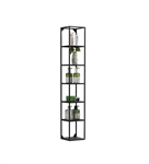Kube Wall Mount Metal Shelf Unit - Black