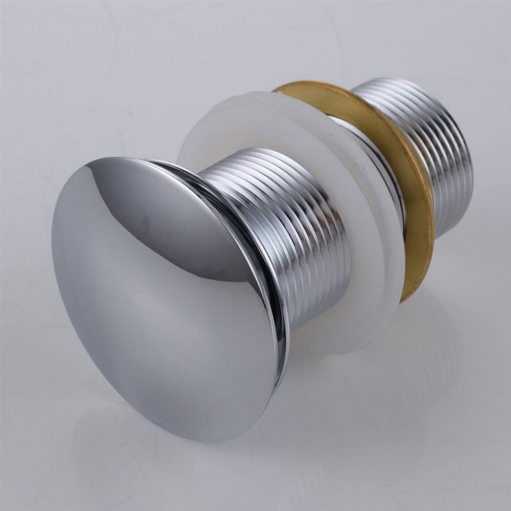 Kubebath Solid Brass Pop Up Drain Chrome Finish No