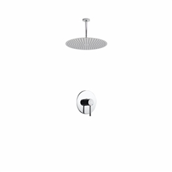 "Aqua Rondo Shower Set w/ Ceiling Mount 20"" Rain Shower Head"