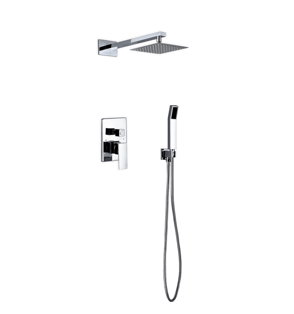 Piazza Brass Shower Set w/ 8\
