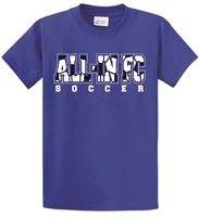 ALL-IN FC Royal Blue Short Sleeve Cotton Tee