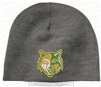 Split Wolves Face Acrylic Beanie