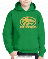 Huge Circle Wolf with Buford Hoodie