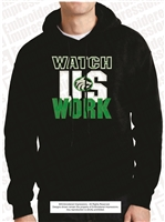 Watch Us Work Buford Wolf Hoodie