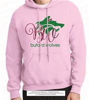Buford Wolf Hoodie with Glitter Bow