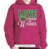 Buford Wolves Love Them Hoodie