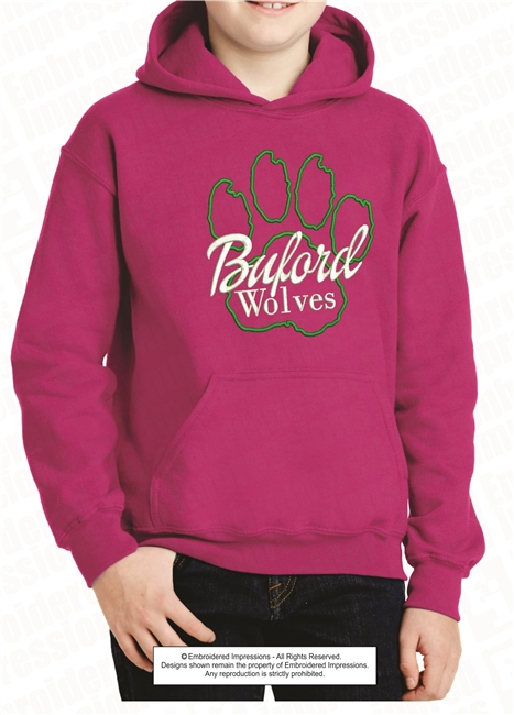 Buford Wolves Paw Hoodie