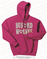 Buford Wolves with Hearts Hoodie