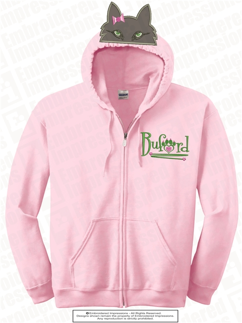 Girls Full Zipped Hoodie