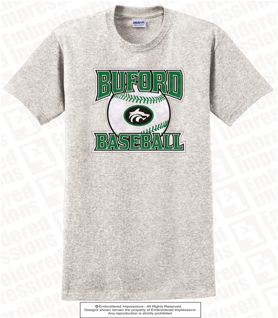 Buford Wolves Logo Baseball Tee