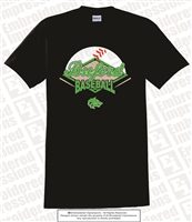 Buford Baseball Crossed Bats Tee
