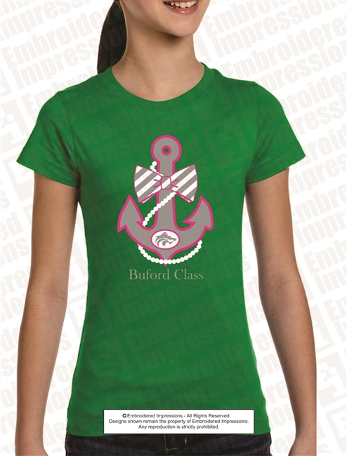 Buford Anchor and Pearls Tee
